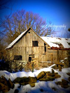 Snowy Barn 8x10 Fine Art Photo Print by a2zphotography on Etsy, $20.00 #barn see more at www.facebook.com/a2zphoto