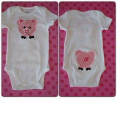 Adorable Pig Onesie Front/Back! by LivieQ on Etsy, $23.00