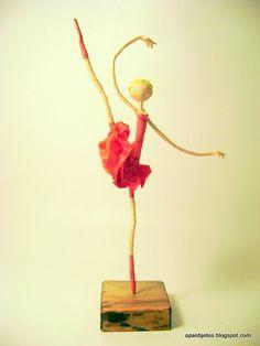 Pequeñas esculturas de papel maché y cartapesta by Opa Objetos