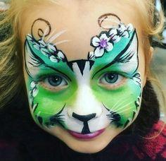 Pretty Green Cat