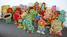 BARBARA GILHOOLY : RECENT PAINTINGS : 'POP-UP GARDEN' Cut-Outs