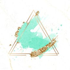 Gold triangle frame on green watercolor background vector premium image by Sparkles Background, Flower Background Wallpaper, Logo Background, Flower Backgrounds, Framed Wallpaper, Watercolor Background, Wallpaper Backgrounds, Triangle Background, Triangle Art