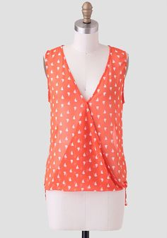 Beaufort Printed Top. Classy, bold color, with subtle print. Love the neckline.
