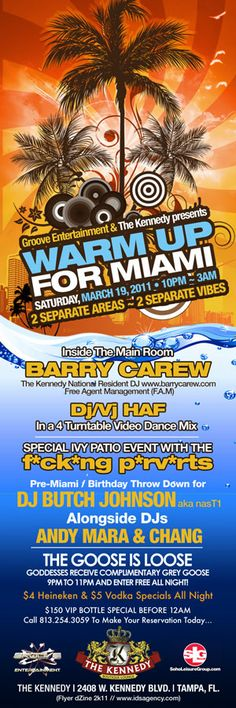 Miami Warm Up Party - Tampa 2011