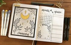 Andrea sur Instagram: You guys! I've teamed up with @zebrapen_usa to show you how I set up this month's overview AND how to use a Level 10 Life spread to set and…