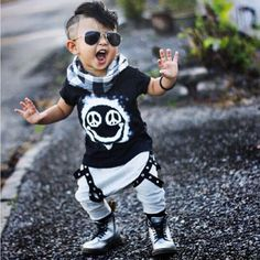 new summer 2017 boy's short-sleeved cotton baby clothes set fashion t-shirt + pants baby boys clothing set kids clothes - Kid Shop Global - Kids & Baby Shop Online - baby & kids clothing, toys for baby & kid Baby Outfits, Outfits Niños, Toddler Outfits, Kids Outfits, Casual Outfits, Denim Outfits, Newborn Outfits, Summer Outfits, Baby Boy Camo