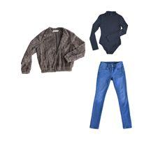 Collectabl Capsule Wardrobes   Fur Jacket   Bodysuit   Jeans
