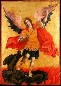 Icon The Archangel Michael Artist: Poulakis Theodoros (1620 - 1692) Date: 1650 - 1699 Dimensions: 76 x 54.3 cm