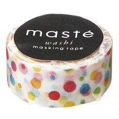 masking tape colorful dots masté
