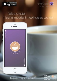 Beautiful Coffee Label only in the new Alrm Clock now available on App Store.  Download: http://bit.ly/1u3MDws
