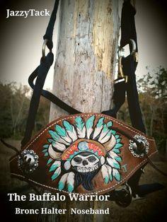 Buffalo Warrior Bronc Halter Noseband by JazzyTack on Etsy