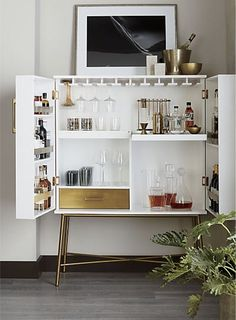 Tips for building modern bar cabinet designs for your home Home barsit is Friday! Link in the organic shop the new Charlene White Wine Cabinet. Modern Bar Cabinet, Kitchen Cabinet Design, Kitchen Interior, Home Bar Cabinet, Bar Cabinet Designs, Ikea Bar Cabinet, Bar Cabinets For Home, Kitchen Decor, Modern Buffet