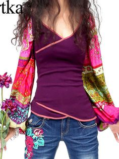 tribal inspired colorful top
