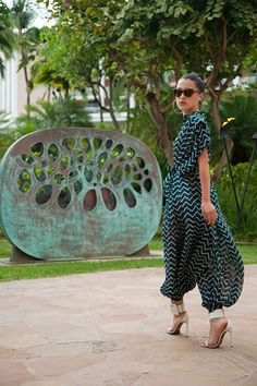 Seriously chic jumpsuit and heels via KARLA'S CLOSET