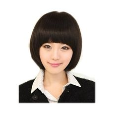 Black Cute Student Style Neat Bangs Straight Short Hair Replacement Hair Wig by GOOACTION. $11.98. It's fit for your Parties,Cosplay & Daily Use.. Easy to care for and Wahs. Wash with normal shampoo in warm but not hot water. Shake off excessive water, wipe with a tower, and dry in air.. 100% Top Quality & Brand NEW. 100% Japanese Kanekalon (high quality one) made fiber wigs. *Package: 1 wig + 1 free wig cap. The size is adjustable,it can fit on most people.you c...