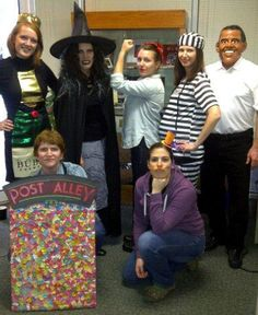 Megan, Suzanne, Michelle, Molly, Bill, Dawn, and Laura all dressed up for Halloween at Benevon in Seattle - 2012.