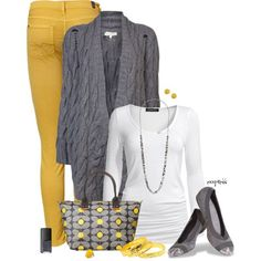 Mustard and grey