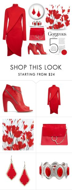 """""""Red's your colour"""" by outfitsloveyou ❤ liked on Polyvore featuring Maison Margiela, Givenchy, Chloé and Mixit"""