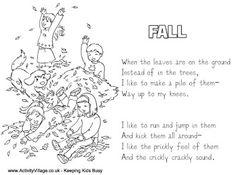 See 6 Best Images of Printable Fall Poems. Poems About Autumn Printable Poems About Autumn Fall Cute Fall Poem Free Printable Autumn Poems Fall Kids Poems About Fall Primary Teaching, Teaching English, Teaching Kids, Teaching Resources, Learn English, Fall Poems, Fall Sensory Bin, Thanksgiving Preschool, Thanksgiving Ideas