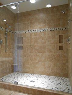 Master Bathroom Walkin Shower X Porcelain Tile On The Shower - Finished bathrooms