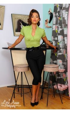 Sean Top in Olive Green Poplin - Work Wear - Collections | Pinup Girl Clothing