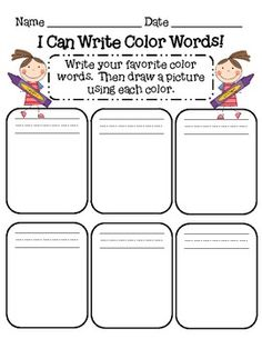 Color Words Practice