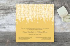 """""""Under the Stars"""" - Beach, Modern Wedding Invitations in Citrus yellow by Bethany Anderson."""