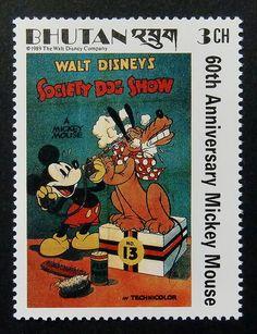 Walt Disney Society Dog Show 60th Anniversary Mickey Mouse -Framed Postage Stamp Art 14198