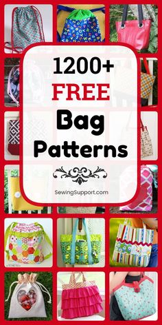 For Mom Free Bag Patterns. 1200 free bag sewing patterns diy projects and tutorials. Sew fabric tote bags e Handbag Patterns, Bag Patterns To Sew, Sewing Patterns Free, Free Sewing, Sewing Tutorials, Sewing Projects, Bag Tutorials, Fabric Tote Bags, Fabric Basket