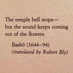 Basho #Poetry #BeautifulWords