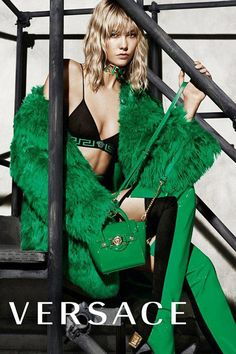 Karlie Kloss in Versace's Autumn Winter 2015 Campaign   Fashion   Grazia Daily