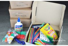"""Create a """"box o' fun"""" for the kids to send along with your meal when mom is the one recovering."""