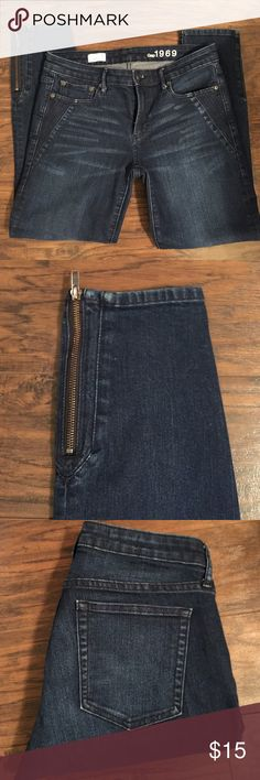 Gap 1969 Always Skinny Jeans Gap 1969 Always Skinny Jeans. Has a zipper at the base of the leg on each side. GAP Jeans Skinny