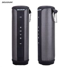 SeaSum waterproof LED Bluetooth speaker Portable Wireless Speaker 87 inches4400mAh Rechargeable Lithium Battery  Black * Check out this great product.