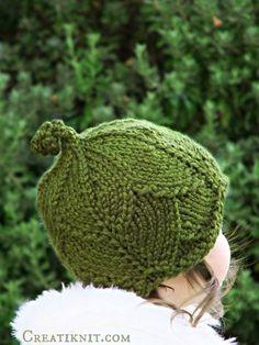ded0d81ef3c63 Knitting PATTERN-Baby Leaf Hat ToddlerChildAdult sizes