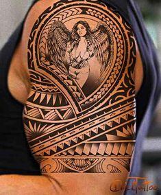 maori tattoos in shoulder Maori Tattoos, Tribal Shoulder Tattoos, Tribal Tattoos For Men, Irish Tattoos, Tribal Sleeve Tattoos, Marquesan Tattoos, Arm Tattoos For Women, Tattoos For Guys, Tattoo Sleeves