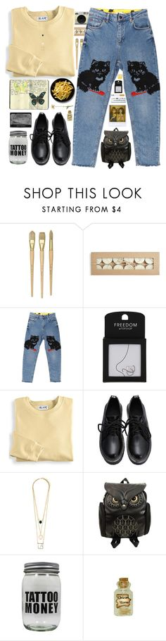 """""""*insert title here*"""" by my-black-wings ❤ liked on Polyvore featuring Retrò, Topshop, Blair, Moleskine, Dollhouse and Wallflower"""
