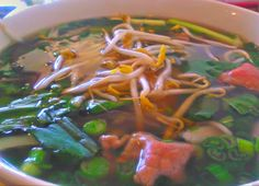 Asian food.  Rare beef Pho.  Photo by Melinda Curtis