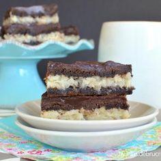 Chocolate Coconut Bars. #food #desserts #bars
