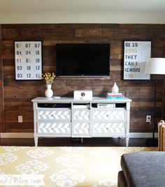 Make a $20 Pallet Wall. Could you cover a floor the same way.