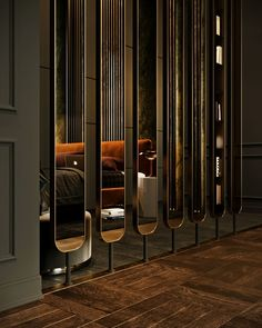 Room divider design ideas - Stylish, modern and decorative room design - Room Divider Lobby Design, Design Entrée, Design Room, Decor Interior Design, Wall Design, Interior Decorating, Screen Design, Floor Design, Mirror Room Divider