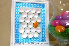 Chick and Egg Art Project - recycle old egg shells into something amazing