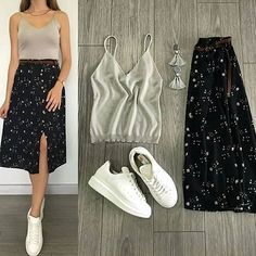 Beautiful outfit idea to copy ♥ For more inspiration join our group Amazing Things ♥ You might also like these related products: - Pants ->. Classy Outfits, Pretty Outfits, Stylish Outfits, Beautiful Outfits, Fashion Mode, Korean Fashion, Fashion Outfits, Womens Fashion, Skirt And Sneakers
