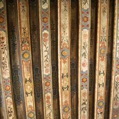 Beautiful ornamental ceiling by Roberto Bricchi Ceiling Murals, Ceiling Tiles, Ceiling Decor, Ceiling Beams, Ceiling Design, Wall Murals, House Near Waterfall, Decoration, Art Decor