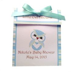 Baby Shower Tea Favor Owl Design by GalleysAngel on Etsy, Lil Owl Aboard Tea Favor.