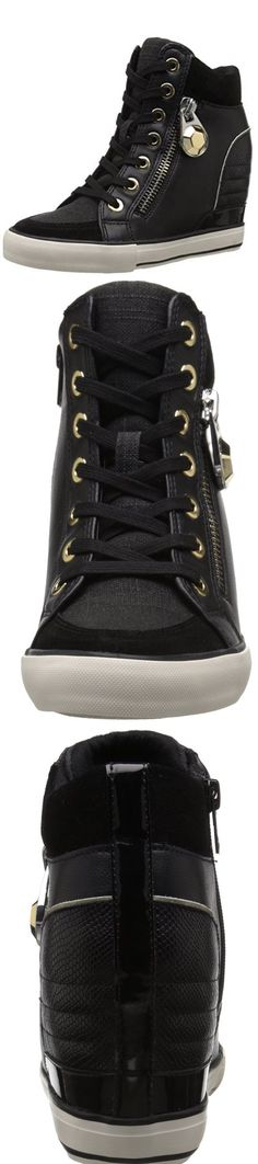 """ALDO WOMEN'S AALESSA FASHION WEDGE SNEAKER---------- Colors Available : Black/Multi and Bone-------- Synthetic/Textile-------- Rubber sole--------- Boot opening measures approximately 5.5"""" around------------ Wedge sneaker------------ 2016------------"""