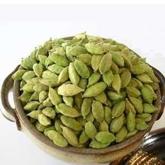Cardamom. it relaxes your muscle tissue, and is a calming antispasmodic useful in colic, asthma, and the throbbing pain of a headache (caused by a spasm in blood vessels). Cardamom is also Ayurveda's most powerful mucus destroyer. As with all aromatics, cardamom is a diaphoretic that opens your pores, encouraging a mild sweat that cleanses the skin, aids low grade fevers, and cleanses the lymphatic system. It is a bronchodilator - helping to improve breathing is asthmatics.