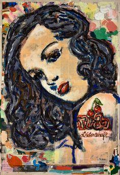 "Saatchi Art Artist Ahmed Borai; Painting, ""Cherry Tattoo"" #art"