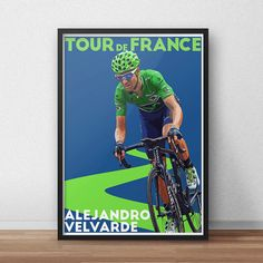 Tour De France Poster  Alejandro Velvarde  by TroutLifeStudio