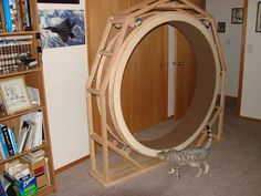 homemade cat wheel! this is awesome.